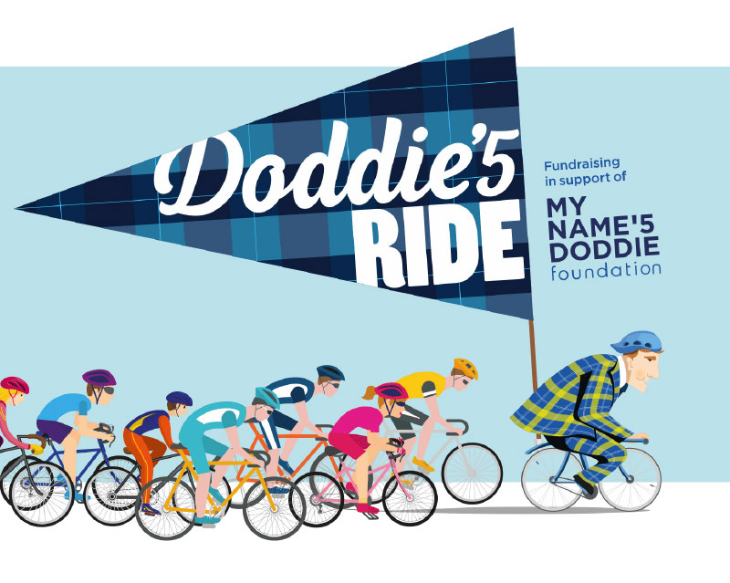The Doddie'5 Ride logo and illustration