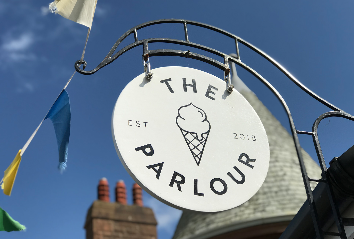 The Parlour hanging signage
